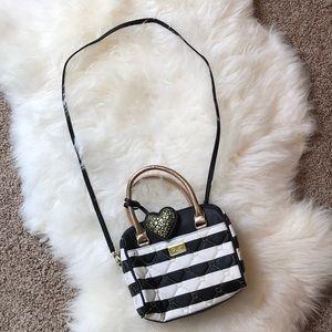 Luv Betsy by Betsy Johnson black & white bag